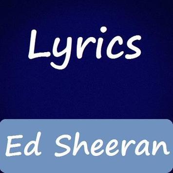 Ed Sheeran Lyrics 17' poster