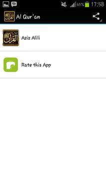 Murattal Al Quran Aziz Alili poster