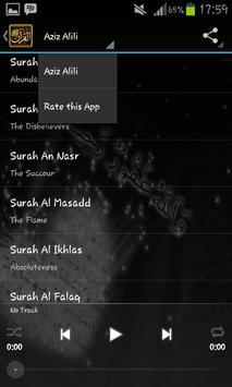 Murattal Al Quran Aziz Alili apk screenshot