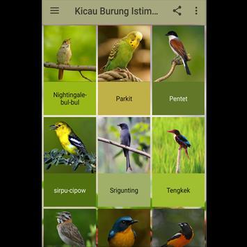 Kicau Burung Istimewa poster