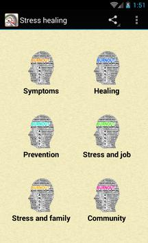 Stress healing poster