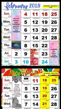 Calendar 2018 / 1439H apk screenshot