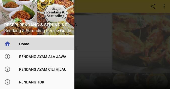 RESEPI RENDANG & SERUNDING apk screenshot