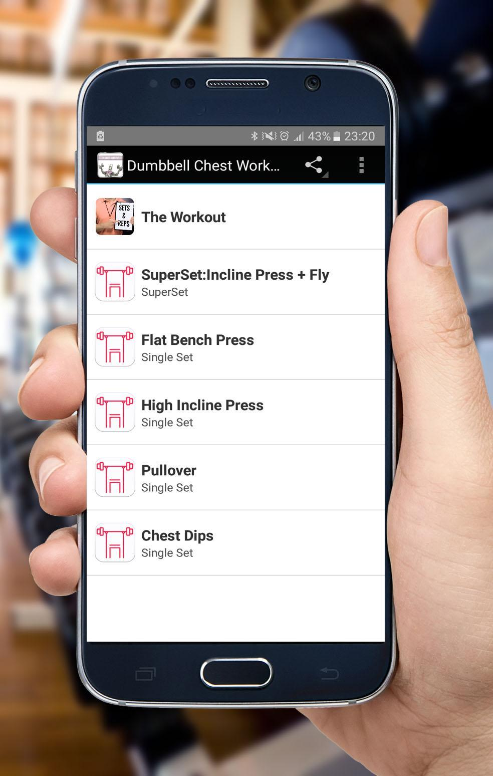 Dumbbell Chest Workout for Android - APK Download