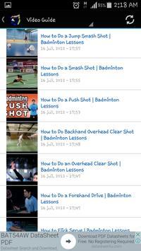 Badminton Skills apk screenshot