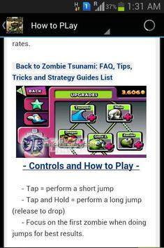 New Zombie Tsunami Guide screenshot 2