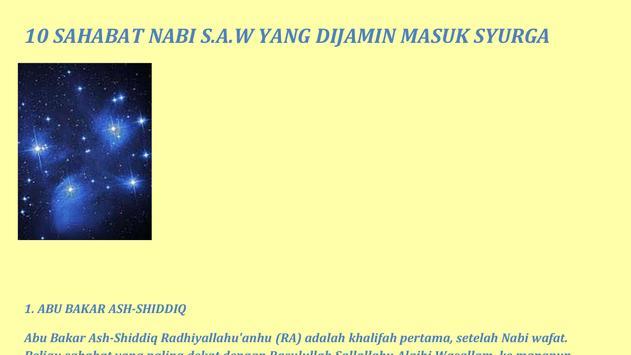 10 Sahabat Nabi DiJamin Syurga screenshot 3