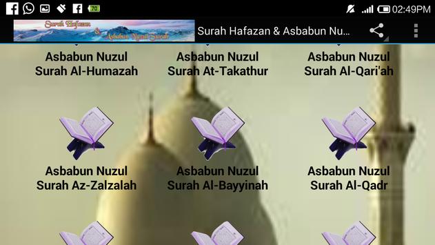 Surah Hafazan & Asbabun Nuzul screenshot 10