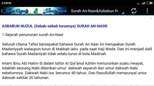 [MP3}Surah Hafazan&Sejarahnya apk screenshot