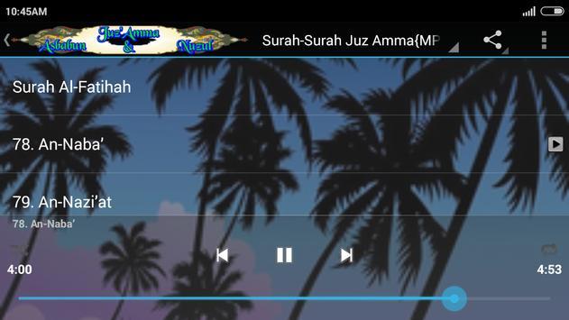 {MP3}Juz Amma&Asbabun Nuzul apk screenshot