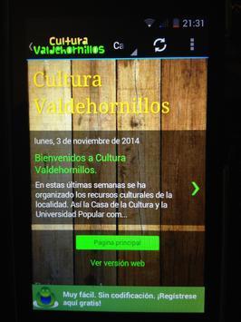 Cultura Valdehornillos screenshot 1