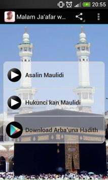 Malam Ja'afar wa'azin Maulidi poster