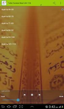 Tafsir Suratun Nisa'i (44-113) apk screenshot