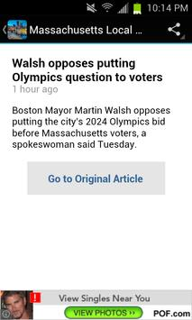 Massachusetts Local News apk screenshot