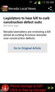 Nevada Local News apk screenshot