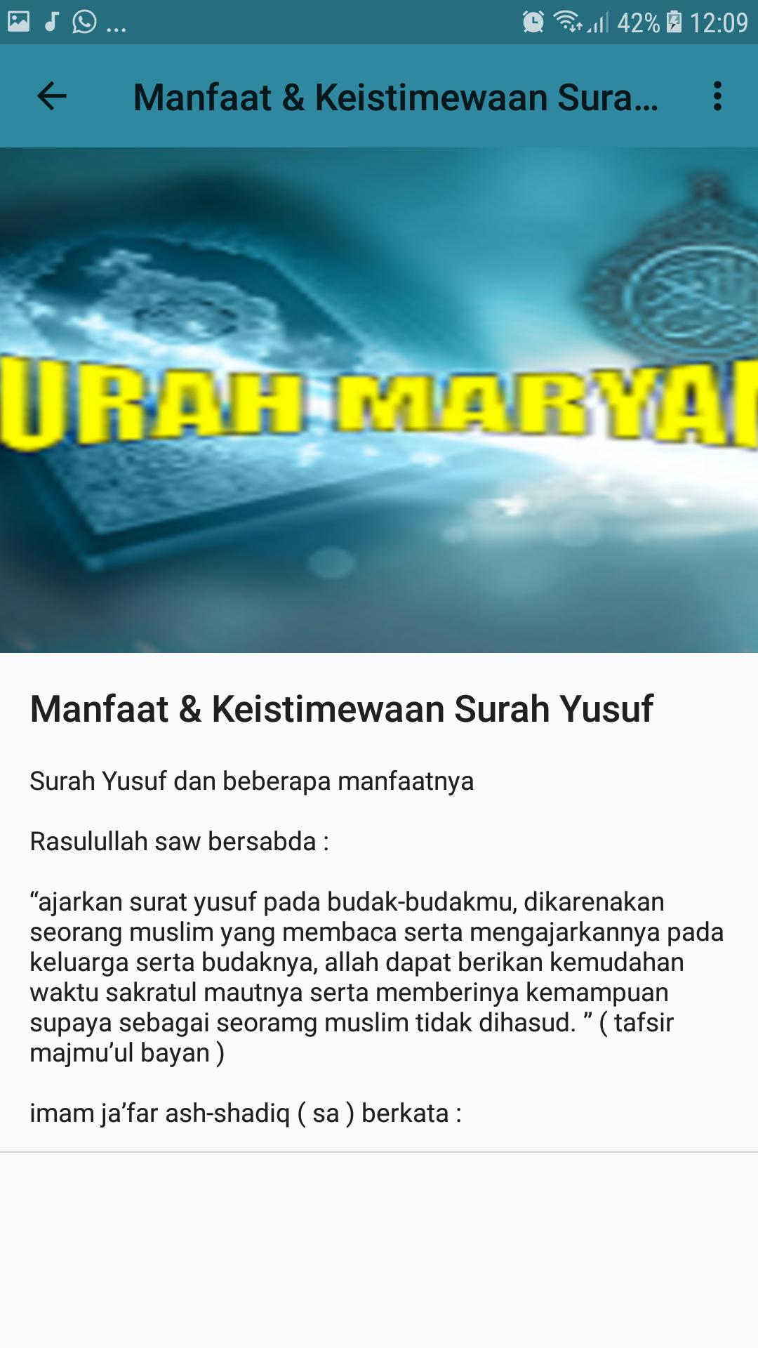 Surah Maryam Mp3 For Android Apk Download