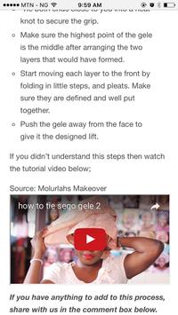 How To Tie Gele (Head Tie) apk screenshot