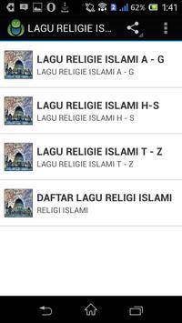 LAGU RELIGIE ISLAMI screenshot 4