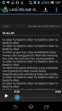 LAGU RELIGIE ISLAMI screenshot 5