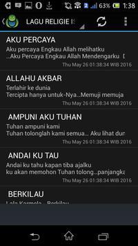 LAGU RELIGIE ISLAMI screenshot 1