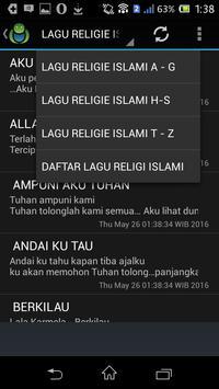 LAGU RELIGIE ISLAMI screenshot 2
