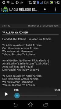 LAGU RELIGIE ISLAMI screenshot 3