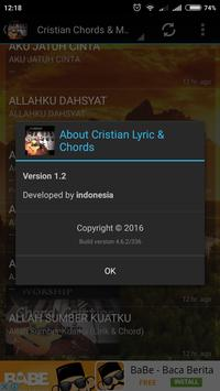 Cristian Music Chord  & Lyric apk screenshot
