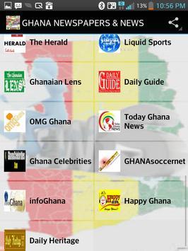 GHANA NEWSPAPERS & NEWS apk screenshot