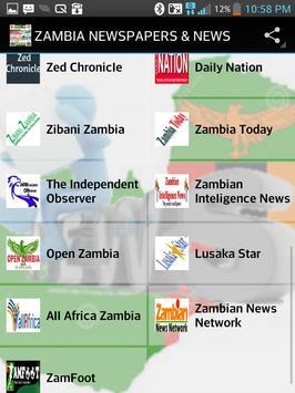 ZAMBIA NEWSPAPERS & NEWS apk screenshot