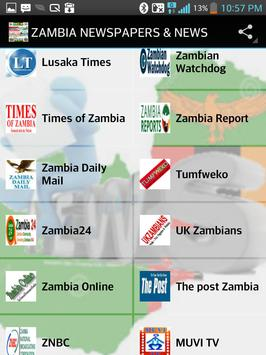 ZAMBIA NEWSPAPERS & NEWS poster