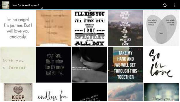 Love Wallpapers and Quotes poster
