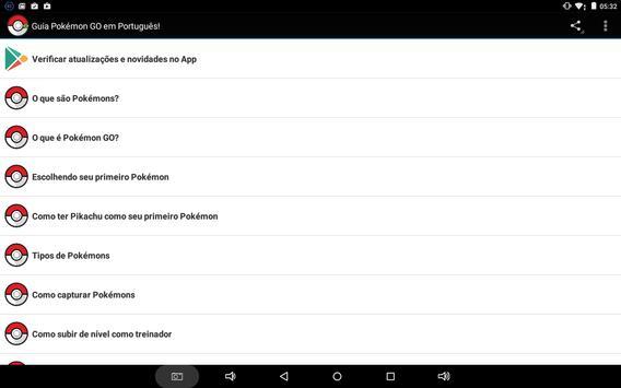 Guia Pokémon GO Brasil screenshot 1