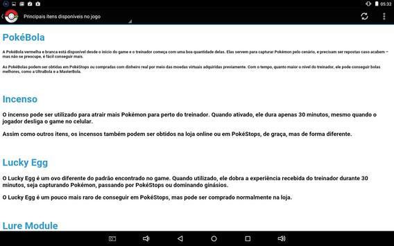 Guia Pokémon GO Brasil screenshot 2