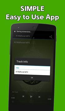 1 Schermata Al Mathurat MP3