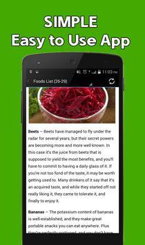 Lower Blood Pressure Foods apk screenshot