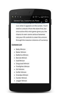 NEW Minion Rush Cheats Guide apk screenshot