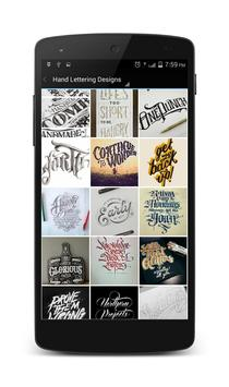 Hand Lettering Designs poster