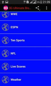 3G Ultimate Browser screenshot 1