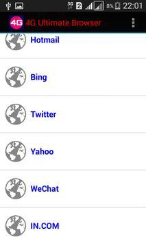 4G Ultimate Browser screenshot 4
