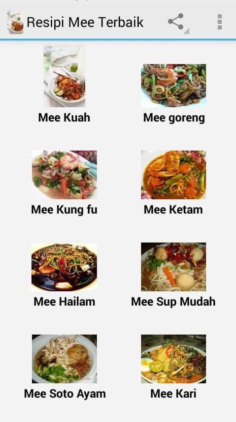 Resipi Mee Terbaik For Android Apk Download