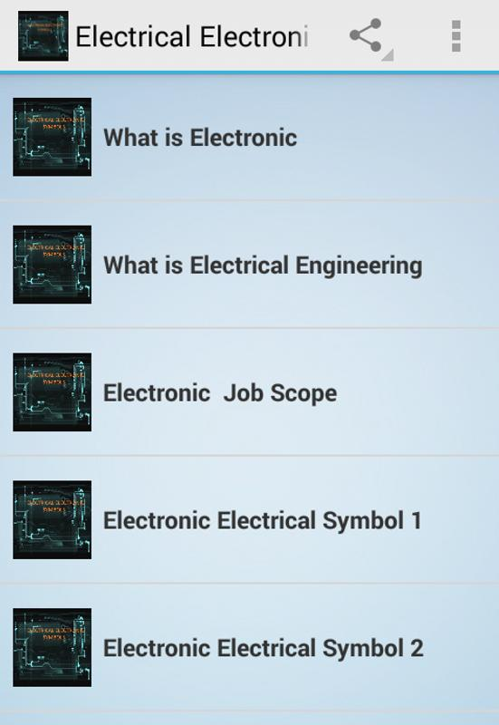 Electrical Electronic Symbols APK Download - Free Education APP for ...