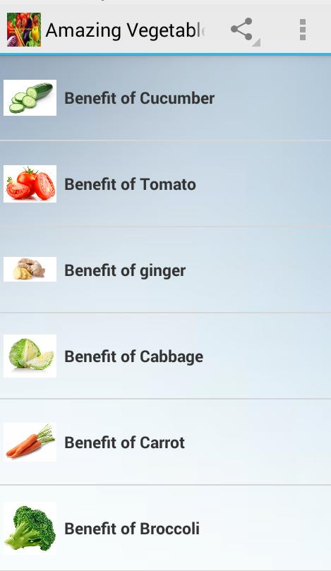 Amazing Vegetables Benefits poster