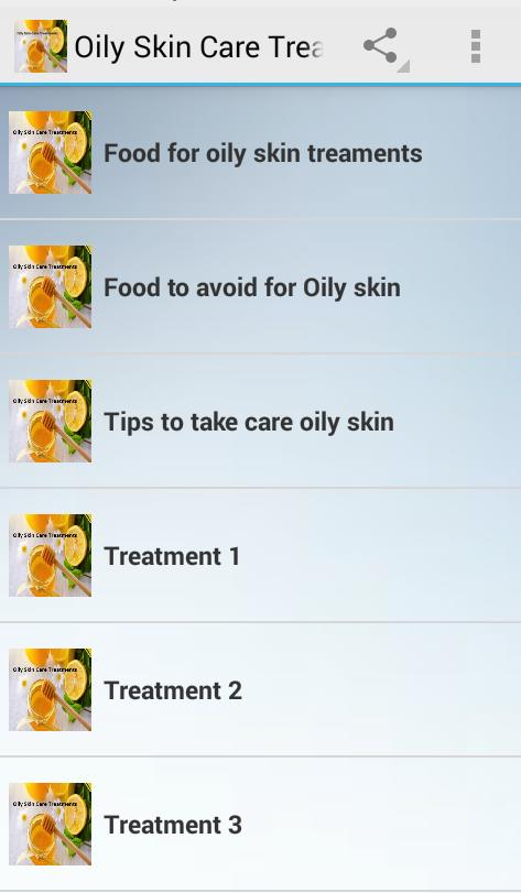 Oily Skin Care Treatments poster