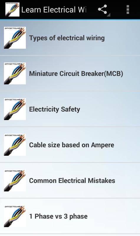 Learn Electrical Wiring APK Download - Free Books & Reference APP ...