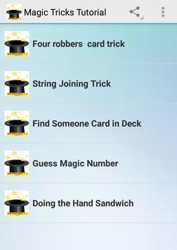 Magic Tricks Tutorial apk screenshot