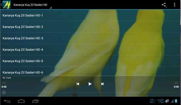 Kanarya Kuş Zil Sesleri HD screenshot 4
