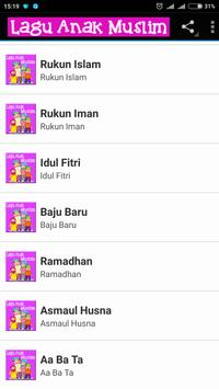 Lagu Anak Muslim capture d'écran 1