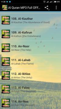 Al Quran MP3 Full Offline imagem de tela 2