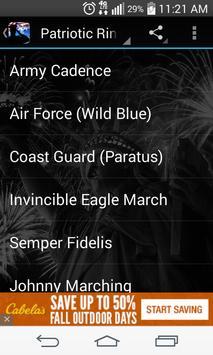 Patriotic Ringtones Free apk screenshot
