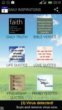 DAILY INSPIRATIONAL QUOTES poster